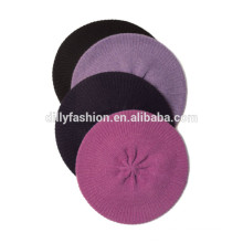 Custom simple retro style pure cashmere beret hat women