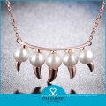 Moda Estilo Clear Gemstone Senhora Wedding Necklace Set (N-0330)