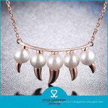Ensemble de collier de mariage de dame de pierres précieuses de style de mode (N-0330)