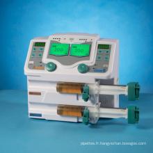 Prix usine de pompe à seringue médicale et clinique (double canal)