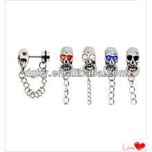 Stainless steel skull helix cartilage ear cuff ear chain jewelry