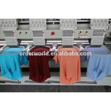Machine de broderie de vêtements finie par chapeau plat de 4 têtes