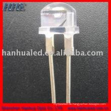 8mm 35-45LM 9000mcd 0.5w 150mA 3 Chips Strohhut leistungsstarke Taschenlampe führte Emitter