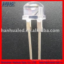 8mm 35-45LM 9000mcd 0.5w 150mA 3 chips paja potente antorcha led emisor