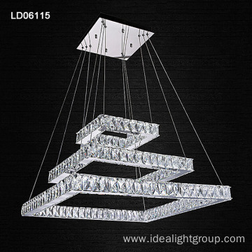 luxury crystal led pendant light wholesale price chandelier