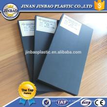 folhas de PVC barato de alta densidade preto / branco