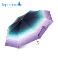 Topumbrella marque 2018 Ultra léger parapluies imprimés Gradient