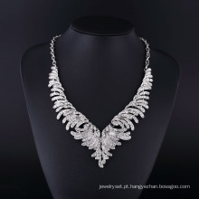 2015 moda américa design strass cz colar de jóias