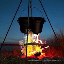 Suporte do tripé do forno holandês do ferro fundido