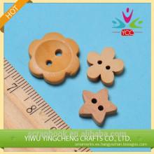 botones de madera de ciruelo flor de botón de la ropa