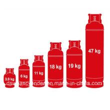 Alta qualidade 5kg GB padrão de gás LPG cozinhar tanque de gás