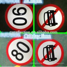 Hersteller laminiert bedruckbare reflektierende Verkehrszeichen, Auto Tempolimit Schilder