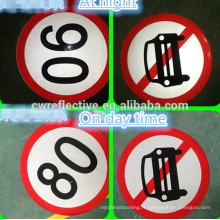 Signes réfléchissants de signalisation routière imprimable stratifiés par fabricant, signes de limite de vitesse de voiture