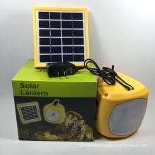 Hot Selling Portable LED Solar Panel Camping Lantern with Radio
