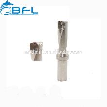 Brocas de flauta BFL 3 / Broca de carburo 3 espiral para cobre
