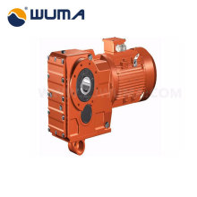 Driving transmission helical gearmotor speed reducer