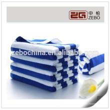 Fil de haute qualité 16S teintée coloré en gros de luxe serviettes de plage de luxe