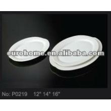Овальный фарфоровая тарелка- гуанчжоу фарфор P0219