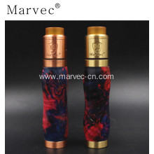 Factory Price for E Cigarette Vape Marvec stable wood material purehand polished mechanicalkit supply to Germany Factory
