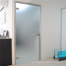 Guangdong customized white milk color safety acid etched frosted tempered Glass for bathroom