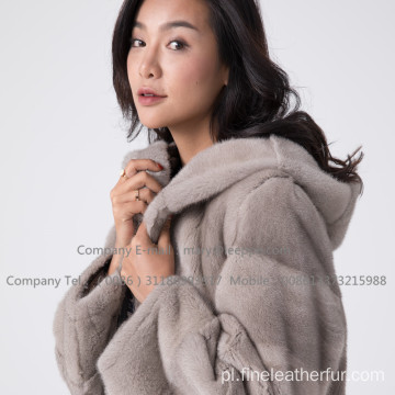 Kobiety Kopenhagen Mink Fur Coat In Winter