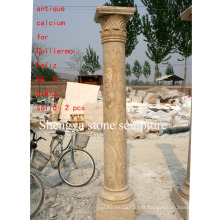 Colonne de sculpture en pierre antique (SY-C008)