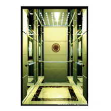 Luxury Passenger Elevators with handrail and mirror etching