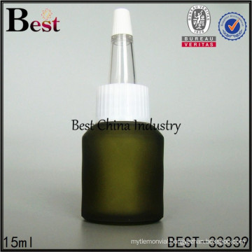 recycled glass bottle unique cap, 15ml plastic eye dropper glass bottles, silk printing service