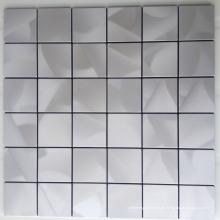 Haaransatz Edelstahl Mosaik Fliesen--Edelstahl Kachel