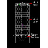 Steel silo with hopper bottom for sale