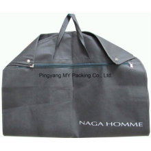 Fold Non-Woven Garment Bag Suit Cover with Zip Pocket