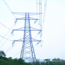Tour galvanisée à double circuit 220 kV