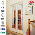 JHK-G22 Inserts Leaded Decorative Fiberglass Dutch Glass Door