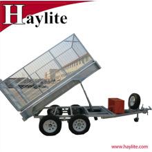 8x5 solda inteiramente o OEM galvanizado do reboque da gaiola da caixa de caminhão basculante do trator fábrica