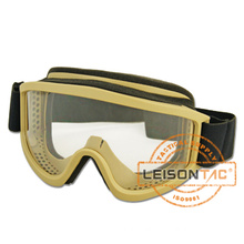 anti-UV, anti-fog tactical gear military ski goggle with suspension system