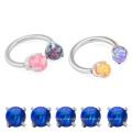 Unique Steel Horseshoe G23 Nose Jewelry Opal Nose Ring Piercing Titanium