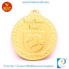 High Quality Customized Gold Plated Horse Head Logo 3D Souvenir Medal in Zinc Alloy