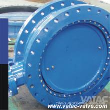 Vulkanisierte Gummi Linded Cast Steel & Gusseisen A216 Wcb & Gg25 Flansch-Absperrklappe
