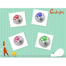 Gem inlaied Balls screw thread beads 14g beads