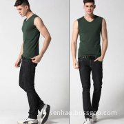 Cheap Custom Cotton Vest/ Screen Printing Promotional Vest