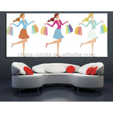 Hot Designs 2014 New Arrival Girl Printing On Canvas Picture