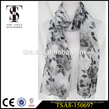 wholesale 100 polyester scarf faint watercolor paiting style scarve