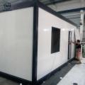 Almacén prefabricado del panel de bocadillo de la casa plegable del envase del envase refrigerado de 40 pies