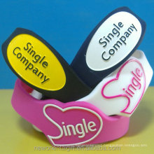 Custom Logo Shape Silicone Wristbands,Custom made silicone wedding wristbands & bracelets