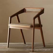 Chaise Style nordique moderne Restaurant en bois dinant la chaise