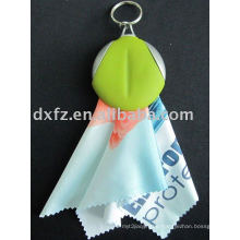 microfiber cleaning cloth/key chain cleaning cloth/digital printing cloth