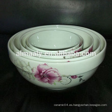 Cuenco de sopa de porcelana al por mayor