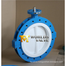 PTFE Lining Full Lug Type Butterfly Valve (D41X-10/16)