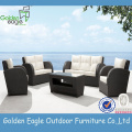 Kombination gebogenes modernes Sofa Rattan Patio Furniture