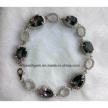 Mode argent Quartz mystique bijoux Bracelet (BR793098)
